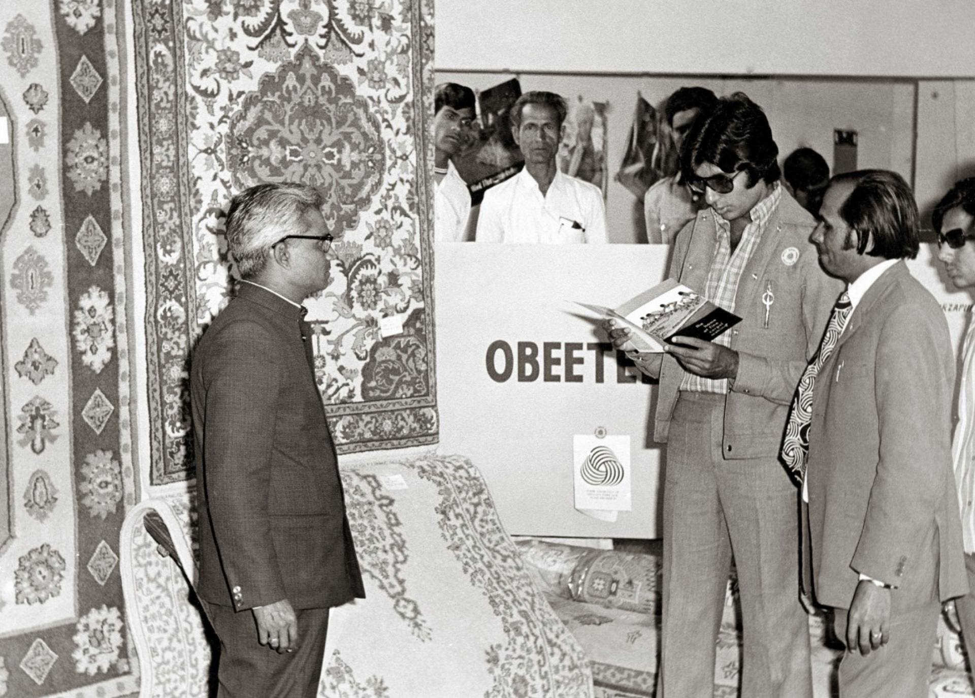 Amitabh Bachchan - At the International Textile Exhibition, 1974