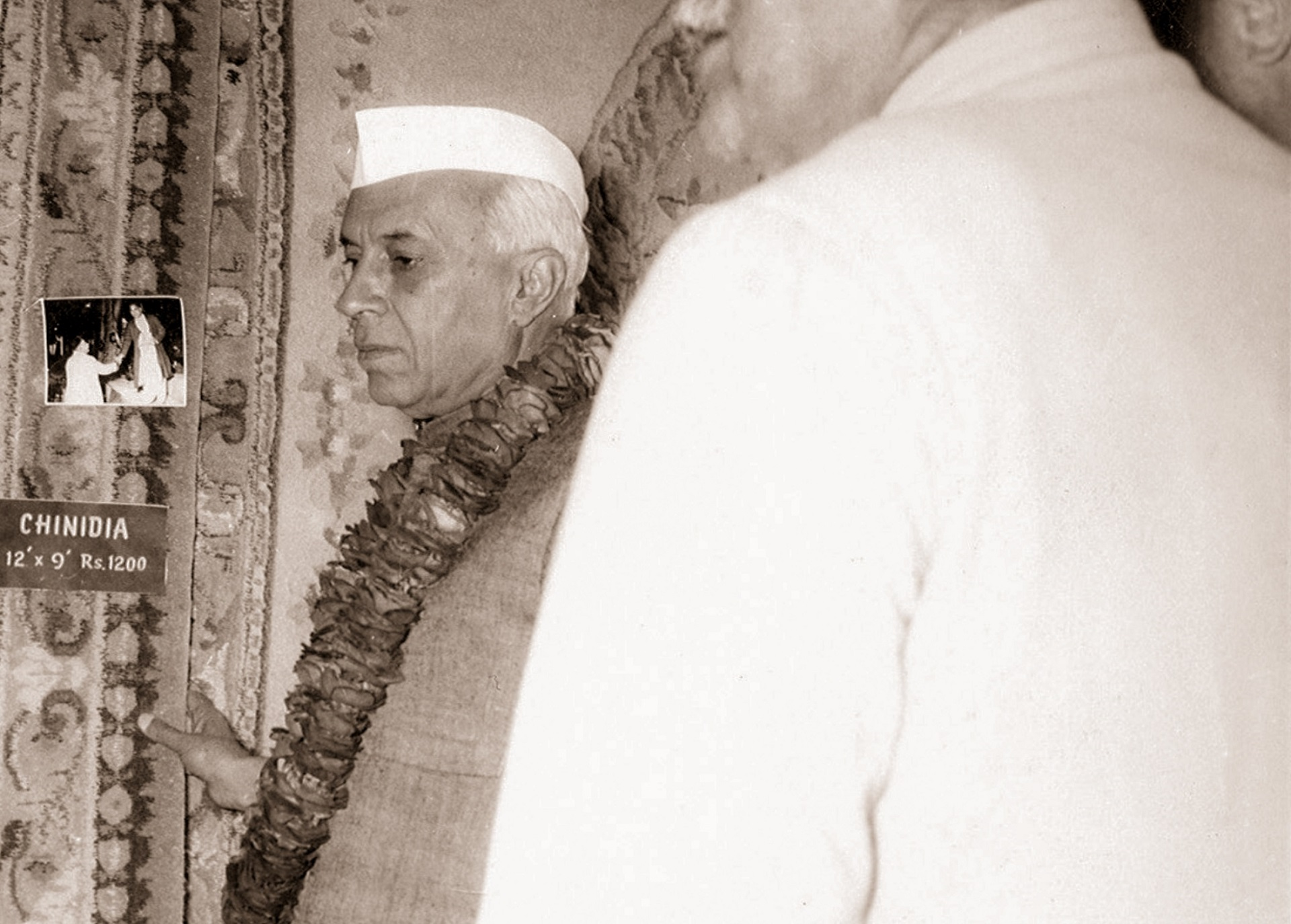 Obeetee - Prime Minister of India Mr Jawaharlal Nehru with Hakimuddin Khan, 1956.